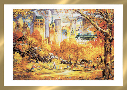 Fall Color in Central Park Thanksgiving Cards