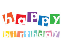 Colorful Wishes Stamped Birthday Greeting Cards