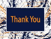 Paint Splatter Pattern Thank You Cards