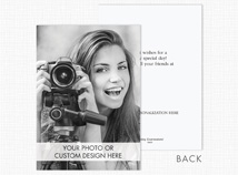 Custom Greeting Card (Vertical, Deluxe Size, Flat)